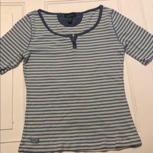 Ralph Lauren LRL stripe blue and white